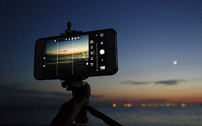 Outdoor photography with a phone