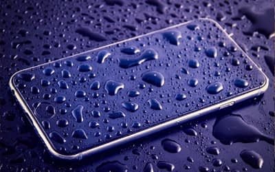 Raindrops on an IPhone
