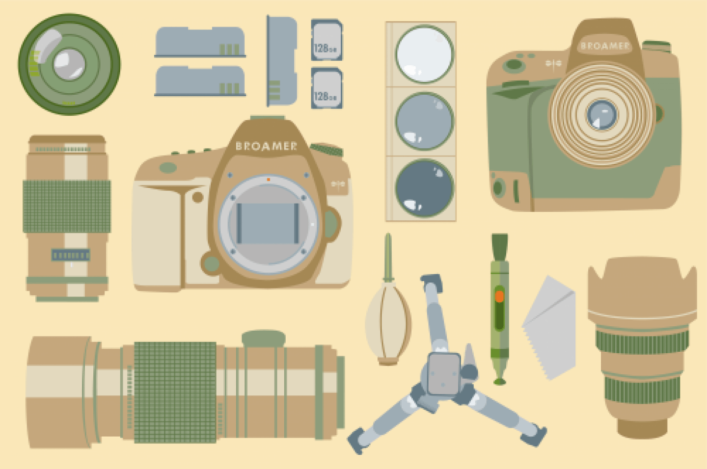 photography equipment to bring on a hike