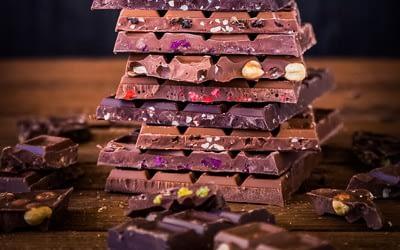 One of the 5 tasty hiking snacks: chocolate