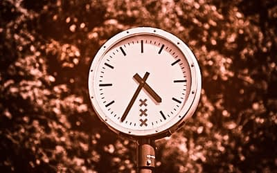 Clock with the Amsterdam symbol xxx