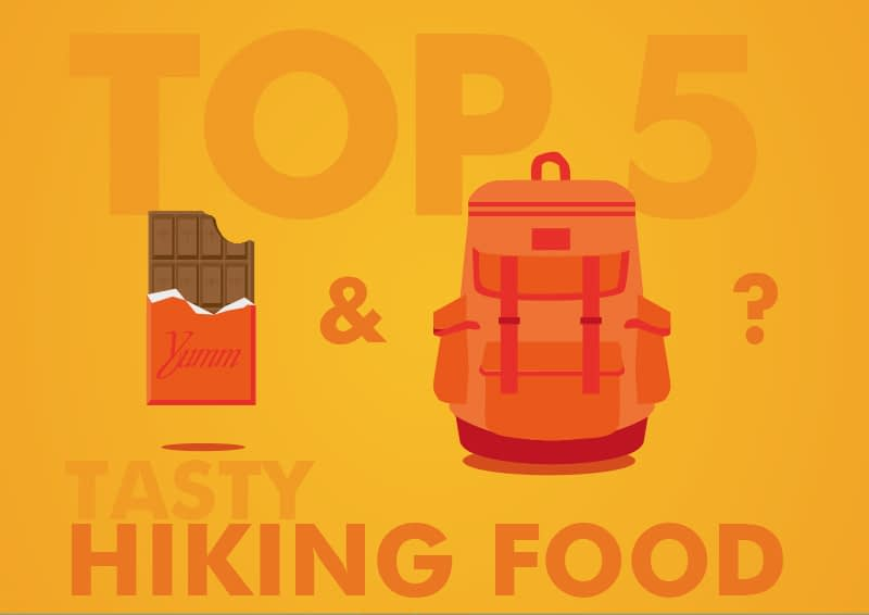 tasty hiking snacks, the top 5