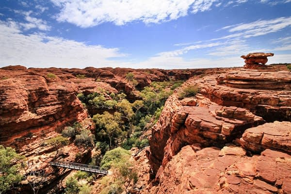 King's Canyon Rim Walk, Australia, a hike we definitely recommend, quick and easy hiking trail yet very rewarding