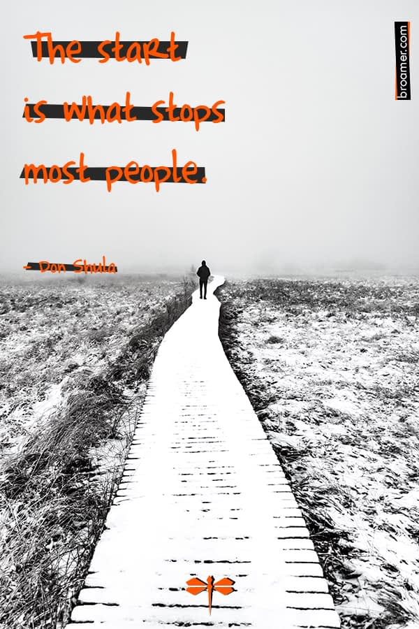"Motivational quote by Don Shula: ""The start is what stops most people."""