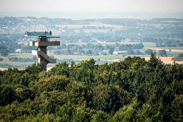 Vaalserberg is the highest point in the Netherlands, tripoint bordering germany and belgium.