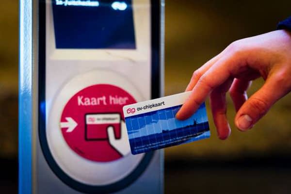 OV-chipkaart for public transport traveling in the Netherlands